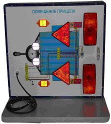 электрическая схема подключения легкового прицепа